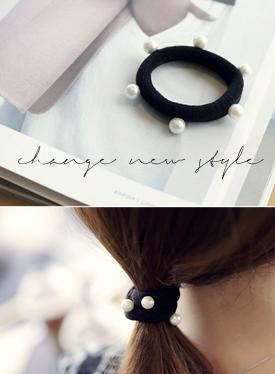 真珠装飾ヘアリングC092138