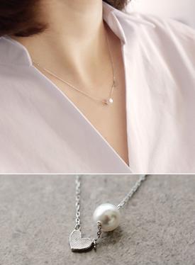 真珠のポイントネックレスC030254