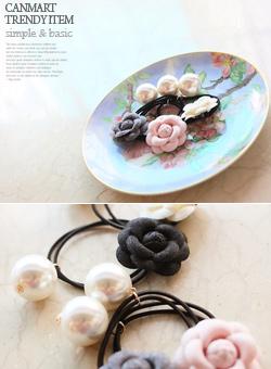 真珠の花びらヘアリングC022441