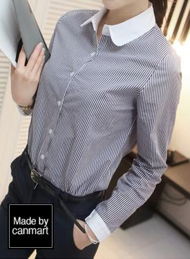 STラウンドカラーシャツC010456