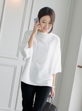 ジャガード長袖TシャツC080131