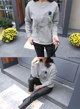 ユニコーン刺繍マンツーマンC101322