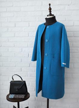 ハンドメイドコート(青色)C122236