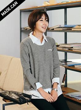 ビンスシャツ配色ティー2(無地)C012525