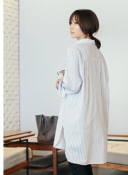 STハーフオープンロングシャツC012515