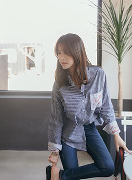 英語刺繍シャツC030379