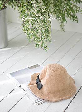 後部リボンボンゴジ帽子C033019