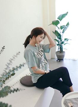 フレンチコットン半袖TシャツC040522