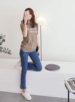 ジェントル捺染半袖TシャツC041915