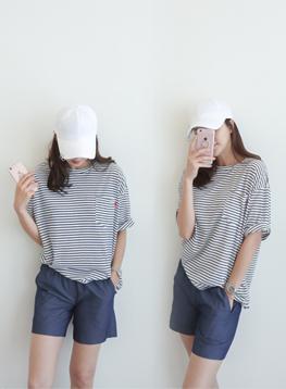 グラスSTポケットTシャツC051806