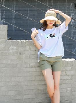 キラキラミッキーTシャツC052655
