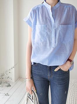 ピグメントハーフオープンシャツC060233