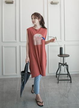 バード刺繍ワンピースC061608