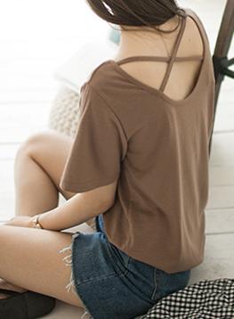 バック文字列TシャツC071714