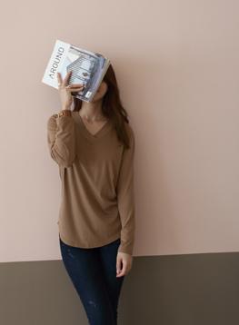 リンゴVネックTシャツC091302