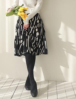 ローゼン捺染スカートC020111