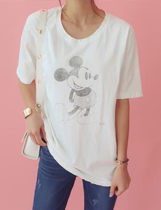 救済ミッキーTシャツC022483