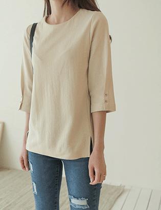 ボタンポイントTシャツC031547