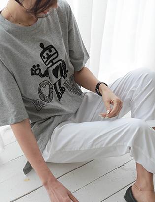 ロボット刺繍ウォッシュティーC032171