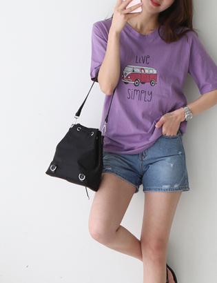 バスプリントTシャツC050312