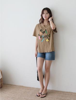 本捺染TシャツC061884