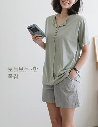 ウィズハーフオープンTシャツC070995